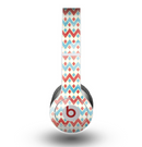 The Vintage Red & Blue Chevron Pattern Skin for the Beats by Dre Original Solo-Solo HD Headphones