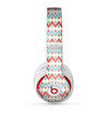 The Vintage Red & Blue Chevron Pattern Skin for the Beats by Dre Studio (2013+ Version) Headphones