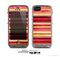 The Vintage Red & Yellow Grunge Striped Skin for the Apple iPhone 5c LifeProof Case