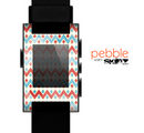 The Vintage Red & Blue Chevron Pattern Skin for the Pebble SmartWatch