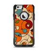 The Vintage Red and Tan Abstarct Shapes Apple iPhone 6 Otterbox Commuter Case Skin Set