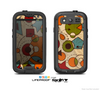 The Vintage Red and Tan Abstarct Shapes Skin For The Samsung Galaxy S3 LifeProof Case