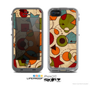 The Vintage Red and Tan Abstarct Shapes Skin for the Apple iPhone 5c LifeProof Case