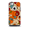 The Vintage Red and Tan Abstarct Shapes Skin for the iPhone 5c OtterBox Commuter Case