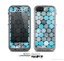 The Vintage Scratched Blue & Graytone Polka Skin for the Apple iPhone 5c LifeProof Case