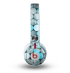 The Vintage Scratched Blue & Graytone Polka Skin for the Beats by Dre Mixr Headphones