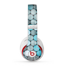 The Vintage Scratched Blue & Graytone Polka Skin for the Beats by Dre Studio (2013+ Version) Headphones
