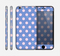 The Vintage Scratched Pink & Purple Polka Dots Skin for the Apple iPhone 6