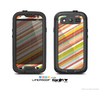 The Vintage Slanted Color Stripes Skin For The Samsung Galaxy S3 LifeProof Case
