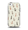 The Vintage Solid Cat Shadows Apple iPhone 5c Otterbox Symmetry Case Skin Set