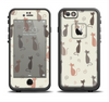 The Vintage Solid Cat Shadows Apple iPhone 6 LifeProof Fre Case Skin Set