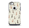 The Vintage Solid Cat Shadows Skin for the iPhone 5c OtterBox Commuter Case