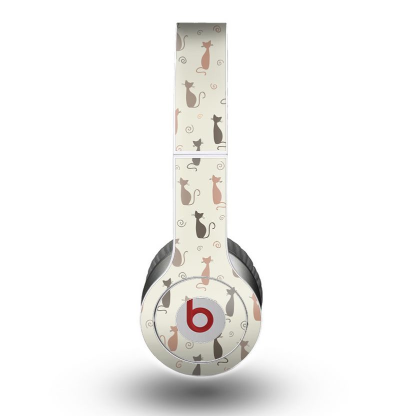 The Vintage Solid Cat Shadows copy Skin for the Beats by Dre Original Solo-Solo HD Headphones