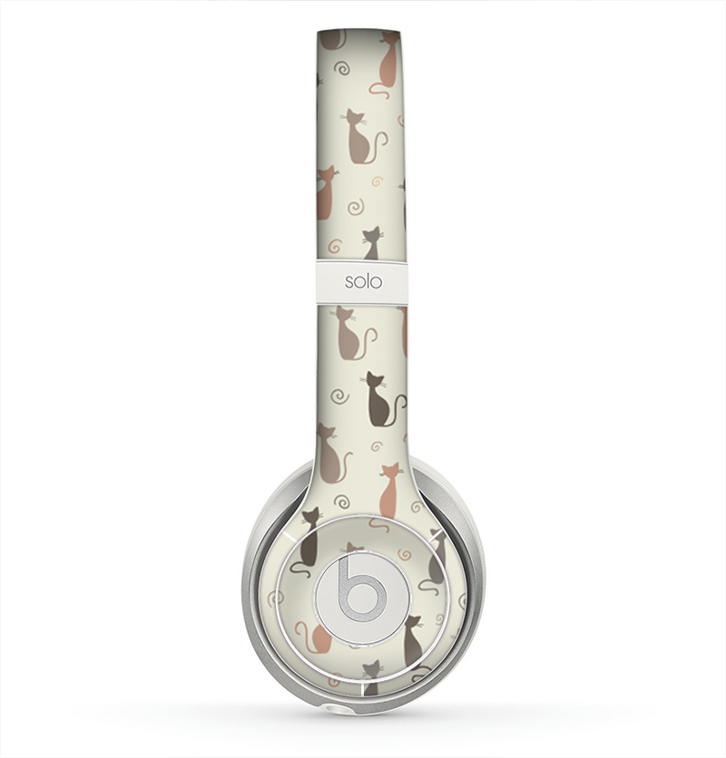 The Vintage Solid Cat Shadows copy Skin for the Beats by Dre Solo 2 Headphones