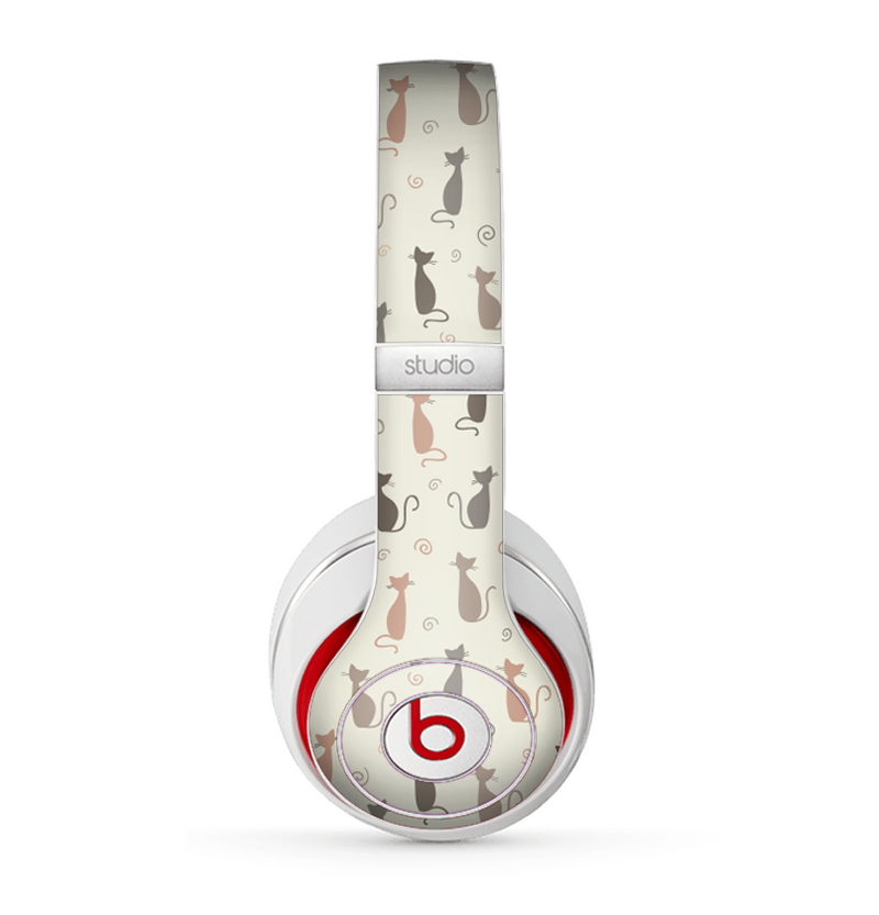 The Vintage Solid Cat Shadows copy Skin for the Beats by Dre Studio (2013+ Version) Headphones