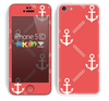 The Vintage Solid Color Anchor Collage V3 Skin for the Apple iPhone 5c
