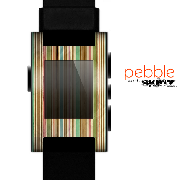 The Vintage Solor Striped V3 Skin for the Pebble SmartWatch
