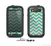 The Vintage Subtle Greens Chevron Pattern Skin For The Samsung Galaxy S3 LifeProof Case
