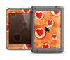 The Vintage Subtle Red and Orange Hearts Apple iPad Air LifeProof Fre Case Skin Set