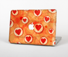 The Vintage Subtle Red and Orange Hearts Skin Set for the Apple MacBook Air 13""