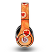 The Vintage Subtle Red and Orange Hearts Skin for the Original Beats by Dre Studio Headphones