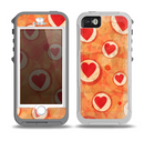 The Vintage Subtle Red and Orange Hearts Skin for the iPhone 5-5s OtterBox Preserver WaterProof Case