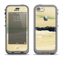 The Vintage Subtle Yellow Beach Scene Apple iPhone 5c LifeProof Nuud Case Skin Set