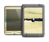 The Vintage Subtle Yellow Beach Scene Apple iPad Air LifeProof Nuud Case Skin Set