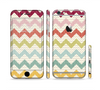 The Vintage Summer Colored Chevron V4 Sectioned Skin Series for the Apple iPhone 6 Plus