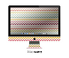 The Vintage Summer Colored Chevron V4 Skin for the Apple iMac 27 Inch Desktop Computer