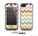 The Vintage Summer Colored Chevron V4 Skin for the Apple iPhone 5c LifeProof Case