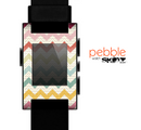 The Vintage Summer Colored Chevron V4 Skin for the Pebble SmartWatch