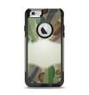 The Vintage Swirled Stripes with Name Tag Apple iPhone 6 Otterbox Commuter Case Skin Set