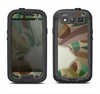 The Vintage Swirled Stripes with Name Tag Samsung Galaxy S3 LifeProof Fre Case Skin Set