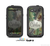 The Vintage Swirled Stripes with Name Tag Skin For The Samsung Galaxy S3 LifeProof Case