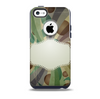 The Vintage Swirled Stripes with Name Tag Skin for the iPhone 5c OtterBox Commuter Case
