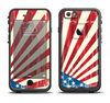 The Vintage Tan American Flag Apple iPhone 6/6s Plus LifeProof Fre Case Skin Set