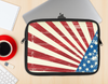 The Vintage Tan American Flag Ink-Fuzed NeoPrene MacBook Laptop Sleeve