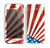 The Vintage Tan American Flag Skin for the Apple iPhone 5c