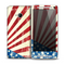 The Vintage Tan American Flag Skin for the HTC One