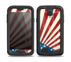 The Vintage Tan American Flag Skin for the Samsung Galaxy S4 frē LifeProof Case