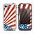 The Vintage Tan American Flag Skin for the iPhone 4-4s LifeProof Case