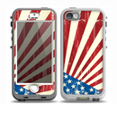 The Vintage Tan American Flag Skin for the iPhone 5-5s nüüd LifeProof Case