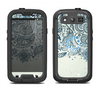 The Vintage Tan & Black Top Swirled Design Samsung Galaxy S3 LifeProof Fre Case Skin Set