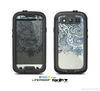 The Vintage Tan & Black Top Swirled Design Skin For The Samsung Galaxy S3 LifeProof Case