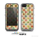 The Vintage Tan & Colored Polka Dots Skin for the Apple iPhone 5c LifeProof Case
