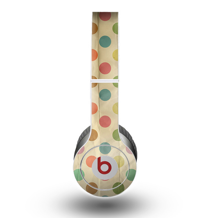 The Vintage Tan & Colored Polka Dots Skin for the Beats by Dre Original Solo-Solo HD Headphones