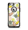 The Vintage Tan & Gold Vector Birds with Flowers Apple iPhone 6 Otterbox Commuter Case Skin Set