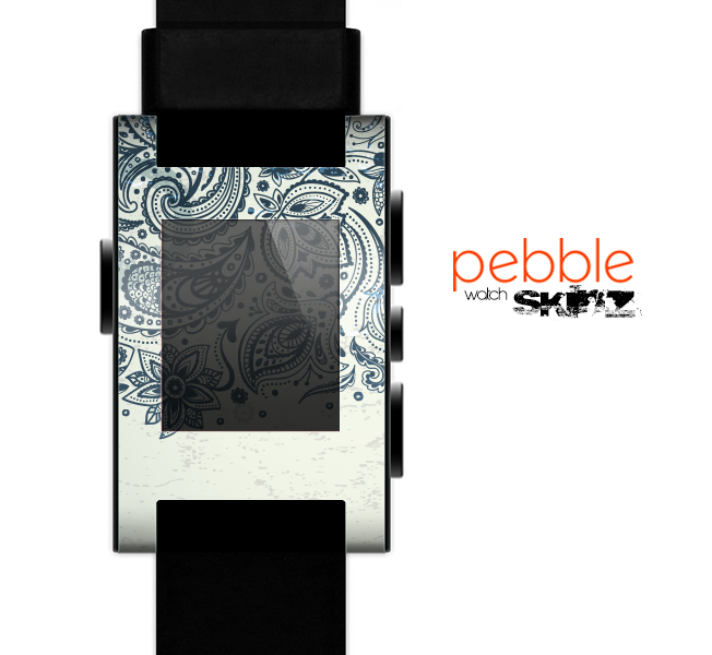 The Vintage Tan & Black Top Swirled Design Skin for the Pebble SmartWatch