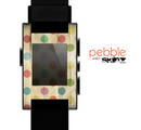 The Vintage Tan & Colored Polka Dots Skin for the Pebble SmartWatch